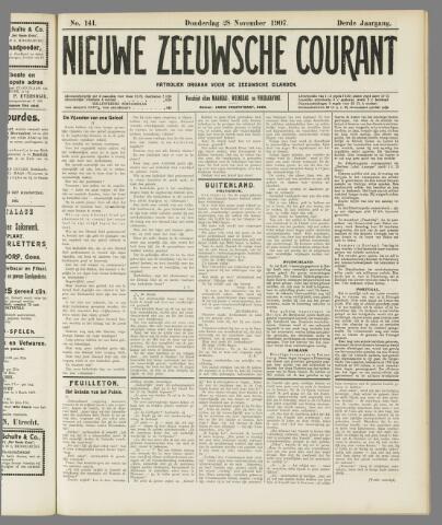 Nieuwe Zeeuwsche Courant 1907-11-28