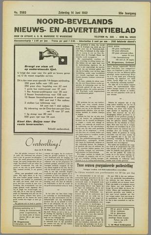Noord-Bevelands Nieuws- en advertentieblad 1952-06-14