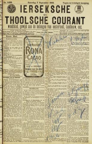 Ierseksche en Thoolsche Courant 1912-09-07