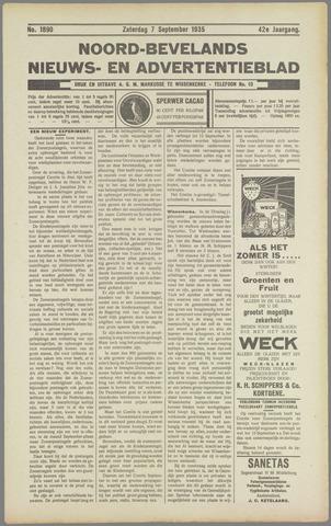Noord-Bevelands Nieuws- en advertentieblad 1935-09-07