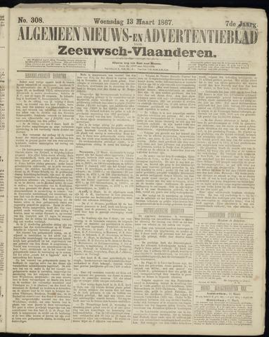 Ter Neuzensche Courant. Algemeen Nieuws- en Advertentieblad voor Zeeuwsch-Vlaanderen / Neuzensche Courant ... (idem) / (Algemeen) nieuws en advertentieblad voor Zeeuwsch-Vlaanderen 1867-03-13