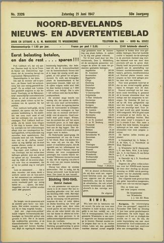Noord-Bevelands Nieuws- en advertentieblad 1947-06-21