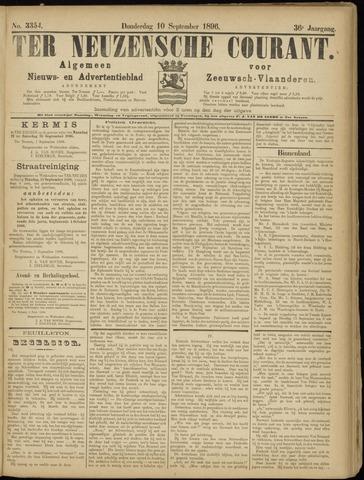 Ter Neuzensche Courant. Algemeen Nieuws- en Advertentieblad voor Zeeuwsch-Vlaanderen / Neuzensche Courant ... (idem) / (Algemeen) nieuws en advertentieblad voor Zeeuwsch-Vlaanderen 1896-09-10