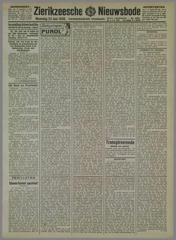 Zierikzeesche Nieuwsbode 1930-06-23