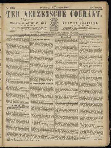 Ter Neuzensche Courant. Algemeen Nieuws- en Advertentieblad voor Zeeuwsch-Vlaanderen / Neuzensche Courant ... (idem) / (Algemeen) nieuws en advertentieblad voor Zeeuwsch-Vlaanderen 1902-11-13