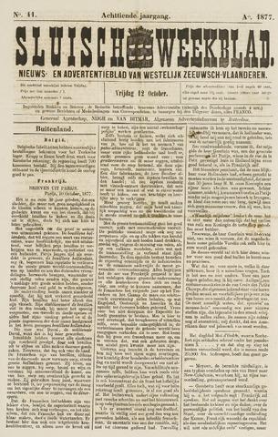 Sluisch Weekblad. Nieuws- en advertentieblad voor Westelijk Zeeuwsch-Vlaanderen 1877-10-12
