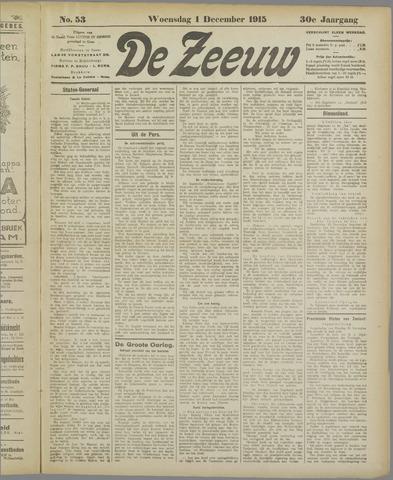 De Zeeuw. Christelijk-historisch nieuwsblad voor Zeeland 1915-12-01