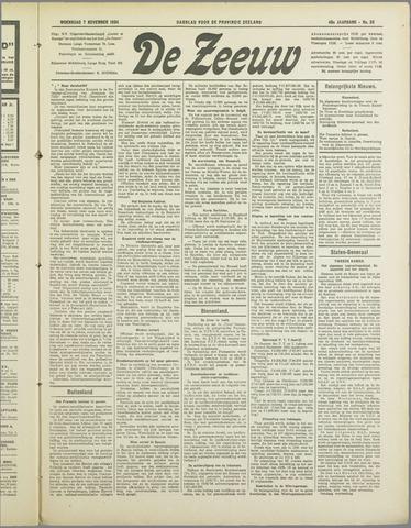 De Zeeuw. Christelijk-historisch nieuwsblad voor Zeeland 1934-11-07