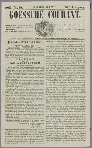 Goessche Courant 1864-04-11