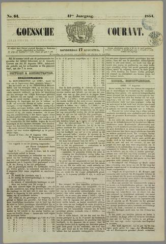 Goessche Courant 1854-08-17