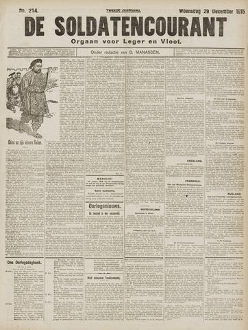 De Soldatencourant. Orgaan voor Leger en Vloot 1915-12-29