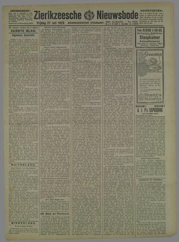 Zierikzeesche Nieuwsbode 1923-07-27