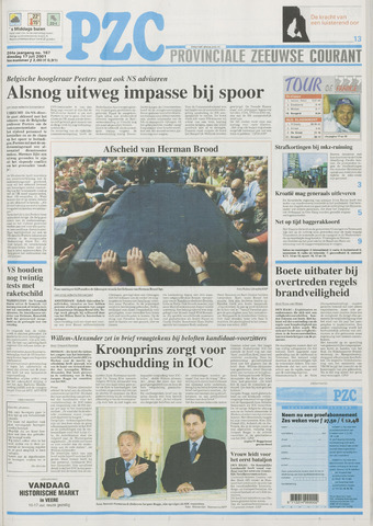 Provinciale Zeeuwse Courant 2001-07-17