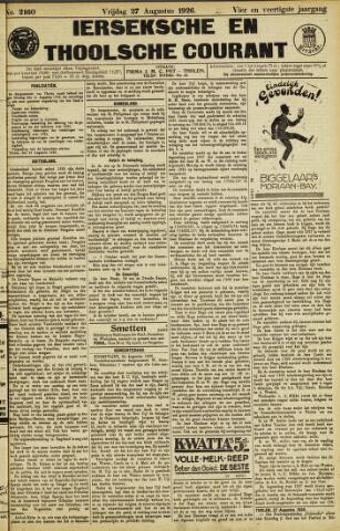 Ierseksche en Thoolsche Courant 1926-08-27