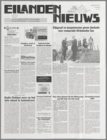 Eilanden-nieuws. Christelijk streekblad op gereformeerde grondslag 2004-06-22