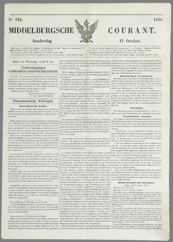 Middelburgsche Courant 1855-10-11
