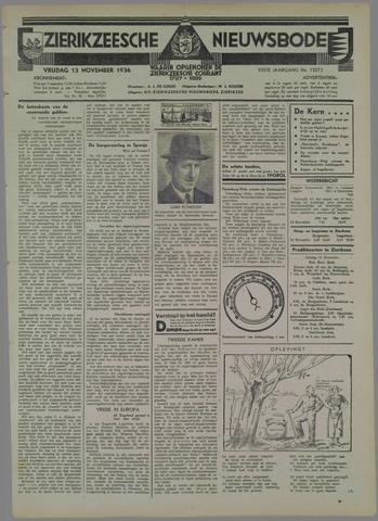 Zierikzeesche Nieuwsbode 1936-11-13