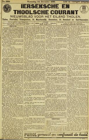Ierseksche en Thoolsche Courant 1930-12-24