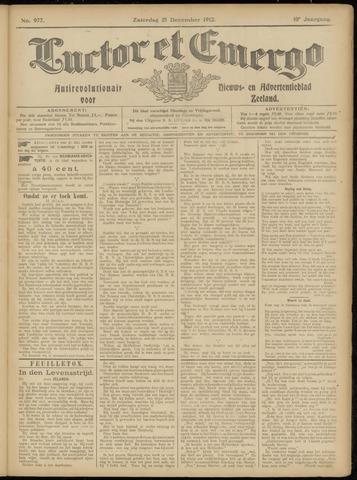 Luctor et Emergo. Antirevolutionair nieuws- en advertentieblad voor Zeeland / Zeeuwsch-Vlaanderen. Orgaan ter verspreiding van de christelijke beginselen in Zeeuwsch-Vlaanderen 1912-12-21
