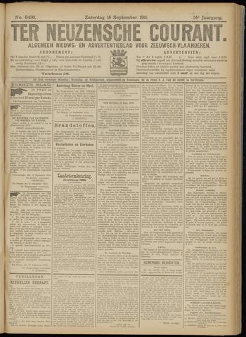 Ter Neuzensche Courant. Algemeen Nieuws- en Advertentieblad voor Zeeuwsch-Vlaanderen / Neuzensche Courant ... (idem) / (Algemeen) nieuws en advertentieblad voor Zeeuwsch-Vlaanderen 1916-09-16