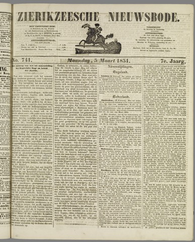 Zierikzeesche Nieuwsbode 1851-03-03