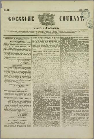 Goessche Courant 1852-10-04