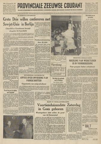 Provinciale Zeeuwse Courant 1953-12-07