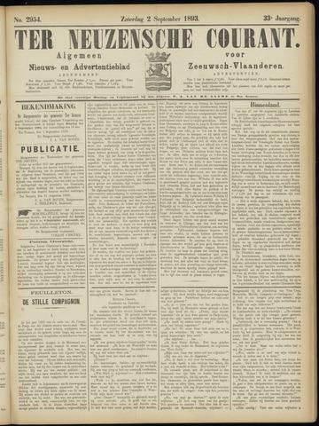 Ter Neuzensche Courant. Algemeen Nieuws- en Advertentieblad voor Zeeuwsch-Vlaanderen / Neuzensche Courant ... (idem) / (Algemeen) nieuws en advertentieblad voor Zeeuwsch-Vlaanderen 1893-09-02