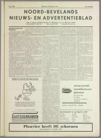 Noord-Bevelands Nieuws- en advertentieblad 1964-02-22