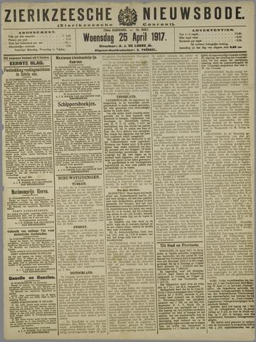 Zierikzeesche Nieuwsbode 1917-04-25