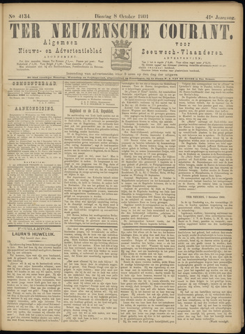 Ter Neuzensche Courant. Algemeen Nieuws- en Advertentieblad voor Zeeuwsch-Vlaanderen / Neuzensche Courant ... (idem) / (Algemeen) nieuws en advertentieblad voor Zeeuwsch-Vlaanderen 1901-10-08