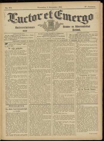 Luctor et Emergo. Antirevolutionair nieuws- en advertentieblad voor Zeeland / Zeeuwsch-Vlaanderen. Orgaan ter verspreiding van de christelijke beginselen in Zeeuwsch-Vlaanderen 1912-12-11