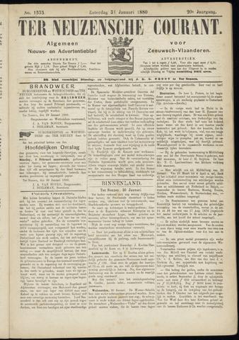 Ter Neuzensche Courant. Algemeen Nieuws- en Advertentieblad voor Zeeuwsch-Vlaanderen / Neuzensche Courant ... (idem) / (Algemeen) nieuws en advertentieblad voor Zeeuwsch-Vlaanderen 1880-01-31