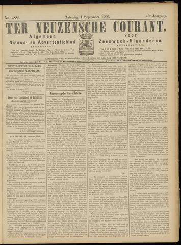 Ter Neuzensche Courant. Algemeen Nieuws- en Advertentieblad voor Zeeuwsch-Vlaanderen / Neuzensche Courant ... (idem) / (Algemeen) nieuws en advertentieblad voor Zeeuwsch-Vlaanderen 1906-09-01