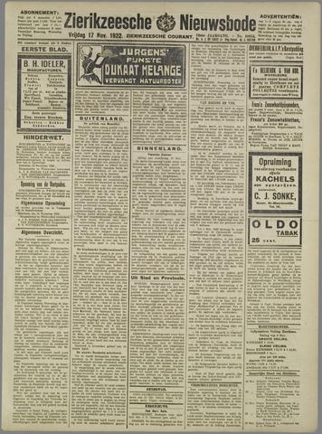 Zierikzeesche Nieuwsbode 1922-11-17