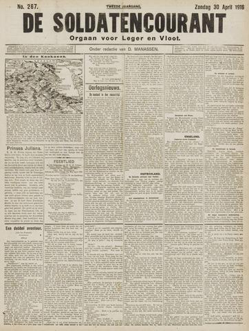 De Soldatencourant. Orgaan voor Leger en Vloot 1916-04-30