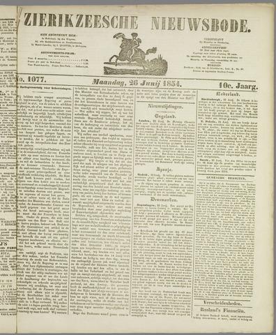 Zierikzeesche Nieuwsbode 1854-06-26