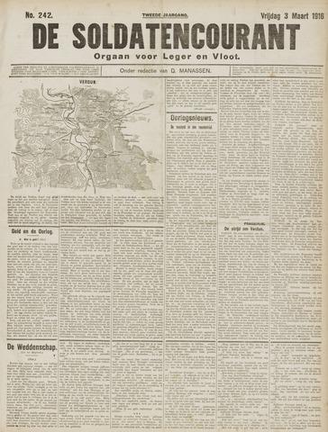 De Soldatencourant. Orgaan voor Leger en Vloot 1916-03-03