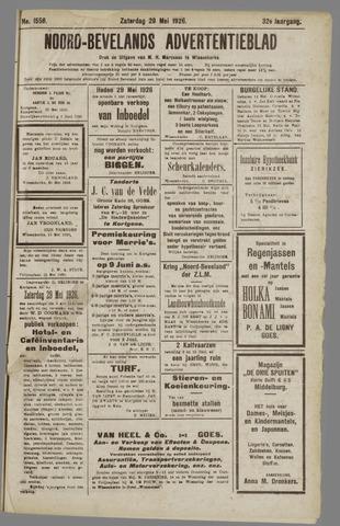 Noord-Bevelands Nieuws- en advertentieblad 1926-05-29