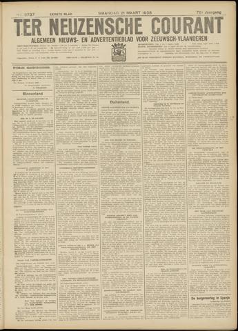 Ter Neuzensche Courant. Algemeen Nieuws- en Advertentieblad voor Zeeuwsch-Vlaanderen / Neuzensche Courant ... (idem) / (Algemeen) nieuws en advertentieblad voor Zeeuwsch-Vlaanderen 1938-03-21