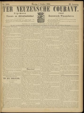 Ter Neuzensche Courant. Algemeen Nieuws- en Advertentieblad voor Zeeuwsch-Vlaanderen / Neuzensche Courant ... (idem) / (Algemeen) nieuws en advertentieblad voor Zeeuwsch-Vlaanderen 1895-10-01