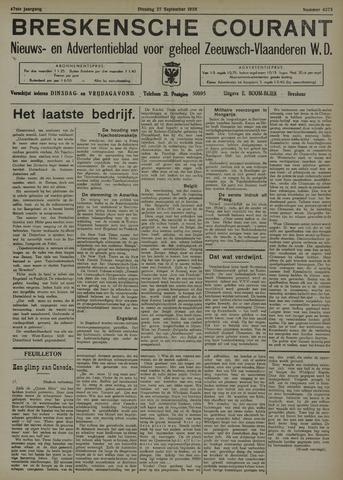 Breskensche Courant 1938-09-27