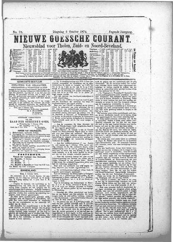 Nieuwe Goessche Courant 1874-10-06