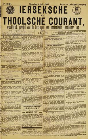 Ierseksche en Thoolsche Courant 1905-07-01