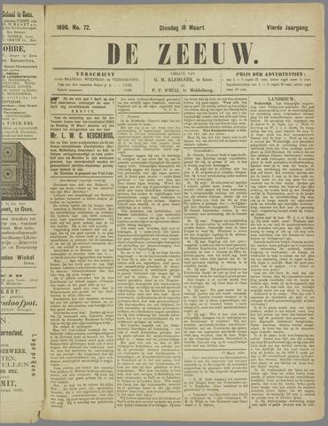 De Zeeuw. Christelijk-historisch nieuwsblad voor Zeeland 1890-03-18