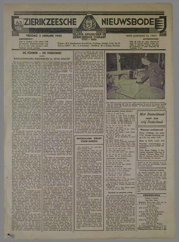 Zierikzeesche Nieuwsbode 1942-01-02