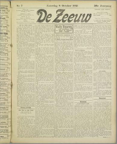 De Zeeuw. Christelijk-historisch nieuwsblad voor Zeeland 1921-10-08