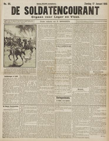 De Soldatencourant. Orgaan voor Leger en Vloot 1915-01-17