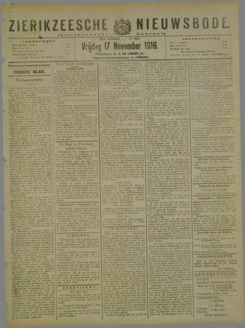 Zierikzeesche Nieuwsbode 1916-11-17