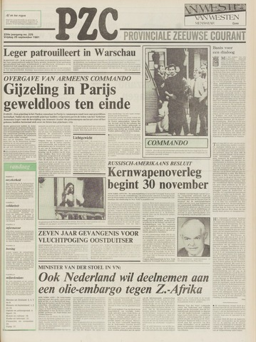 Provinciale Zeeuwse Courant 1981-09-25